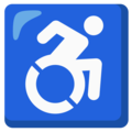 Wheelchair Symbol on Google Android 12.0