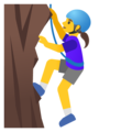 Woman Climbing on Google Android 12.0
