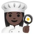 Woman Cook: Dark Skin Tone on Google Android 12.0