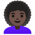 Woman: Dark Skin Tone, Curly Hair on Google Android 12.0