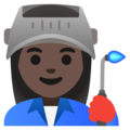 Woman Factory Worker: Dark Skin Tone on Google Android 12.0
