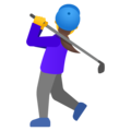 Woman Golfing on Google Android 12.0