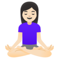 Woman in Lotus Position: Light Skin Tone on Google Android 12.0