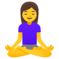 Woman in Lotus Position on Google Android 12.0