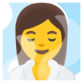Woman in Steamy Room on Google Android 12.0