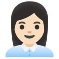 Woman Office Worker: Light Skin Tone on Google Android 12.0