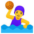 Woman Playing Water Polo on Google Android 12.0