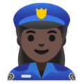 Woman Police Officer: Dark Skin Tone on Google Android 12.0