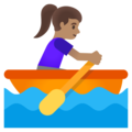 Woman Rowing Boat: Medium Skin Tone on Google Android 12.0