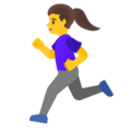 Woman Running on Google Android 12.0