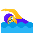 Woman Swimming on Google Android 12.0