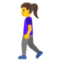 Woman Walking on Google Android 12.0