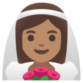 Woman with Veil: Medium Skin Tone on Google Android 12.0