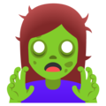 Woman Zombie on Google Android 12.0