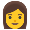 Woman on Google Android 12.0