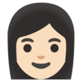 Woman: Light Skin Tone on Google Android 12.0