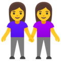 Women Holding Hands on Google Android 12.0