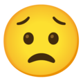 Worried Face on Google Android 12.0