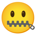 Zipper-Mouth Face on Google Android 12.0