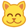 Grinning Cat Face With Smiling Eyes on HTC Sense 7