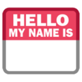 Name Badge on HTC Sense 7