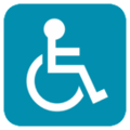 Wheelchair Symbol on HTC Sense 7