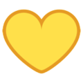 Yellow Heart on HTC Sense 7