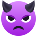 Angry Face with Horns on JoyPixels 5.5