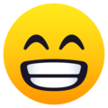 Beaming Face with Smiling Eyes on JoyPixels 5.5