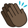 Clapping Hands: Dark Skin Tone on JoyPixels 5.5