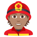 Firefighter: Medium Skin Tone on JoyPixels 5.5