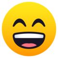 Grinning Face with Smiling Eyes on JoyPixels 5.5