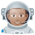 Man Astronaut: Medium Skin Tone on JoyPixels 5.5