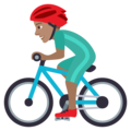 Man Biking: Medium Skin Tone on JoyPixels 5.5