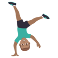 Man Cartwheeling: Medium Skin Tone on JoyPixels 5.5