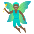 Man Fairy: Medium-Dark Skin Tone on JoyPixels 5.5