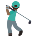 Man Golfing: Medium-Dark Skin Tone on JoyPixels 5.5