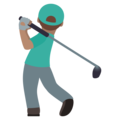 Man Golfing: Medium Skin Tone on JoyPixels 5.5