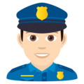 Man Police Officer: Light Skin Tone on JoyPixels 5.5