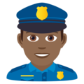 Man Police Officer: Medium-Dark Skin Tone on JoyPixels 5.5