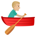 Man Rowing Boat: Medium-Light Skin Tone on JoyPixels 5.5