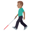 Man with White Cane: Medium Skin Tone on JoyPixels 5.5