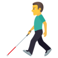 Man with Probing Cane on JoyPixels 5.5