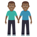 Men Holding Hands: Medium-Dark Skin Tone on JoyPixels 5.5