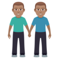 Men Holding Hands: Medium Skin Tone on JoyPixels 5.5