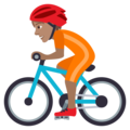 Person Biking: Medium Skin Tone on JoyPixels 5.5