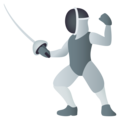 Person Fencing on JoyPixels 5.5