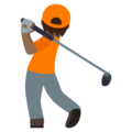 Person Golfing: Medium-Dark Skin Tone on JoyPixels 5.5