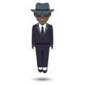Person in Suit Levitating: Dark Skin Tone on JoyPixels 5.5