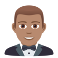 Person in Tuxedo: Medium Skin Tone on JoyPixels 5.5